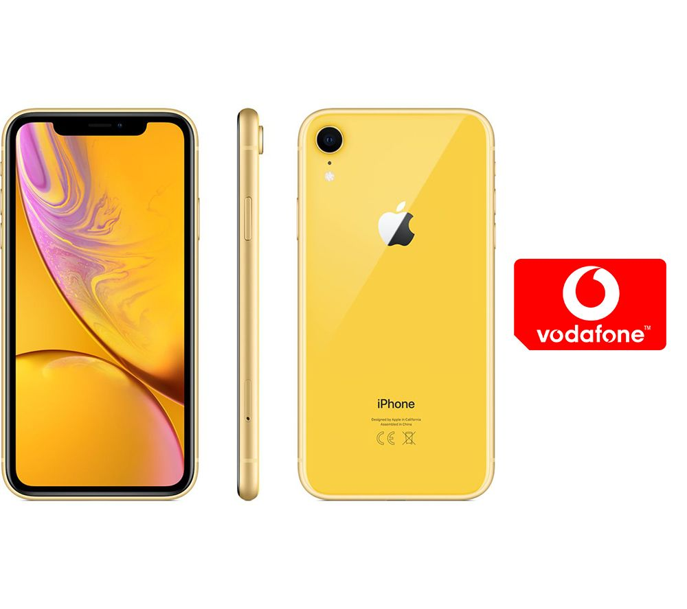 APPLE iPhone XR & Pay As You Go Micro SIM Card Bundle - 64 GB, Yellow