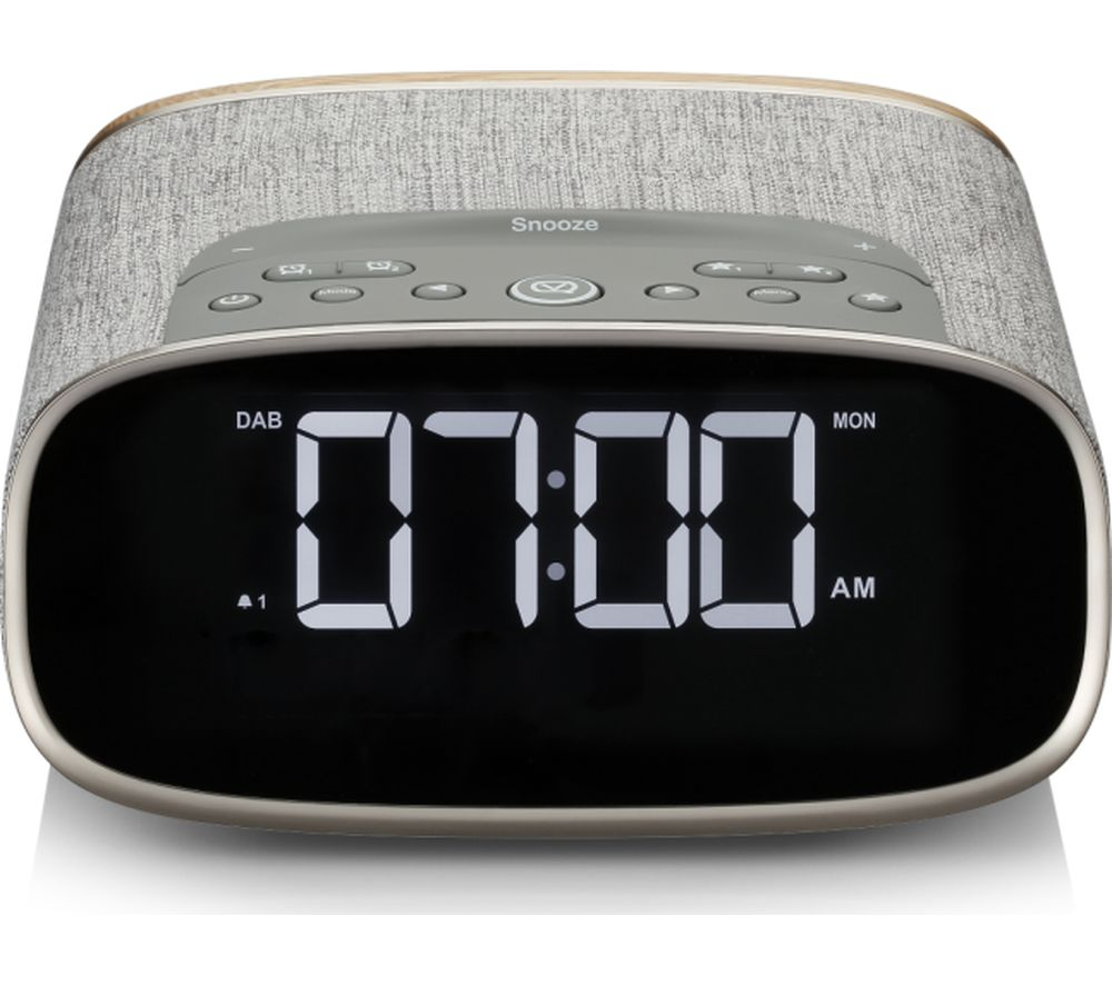 Image of VQ Lark DAB+/FM Bluetooth Clock Radio - Oak