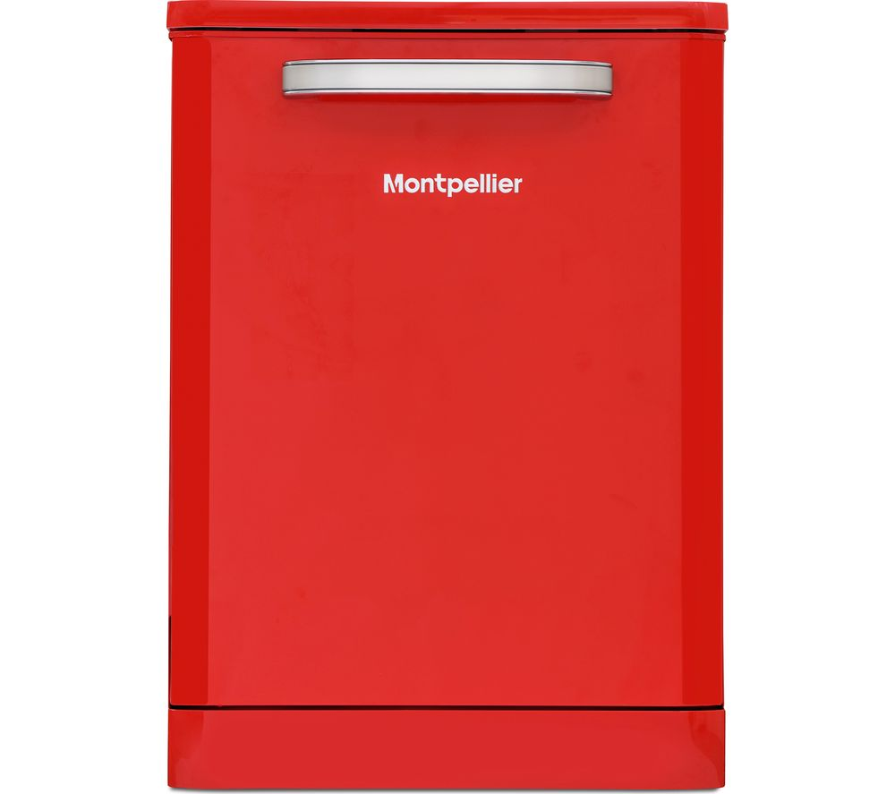 MONTPELLIER MAB600R Full-size Dishwasher - Red, Red
