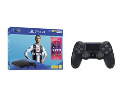 SONY PlayStation 4, FIFA 19 & DualShock 4 V2 Wireless Controller Bundle - 500 GB
