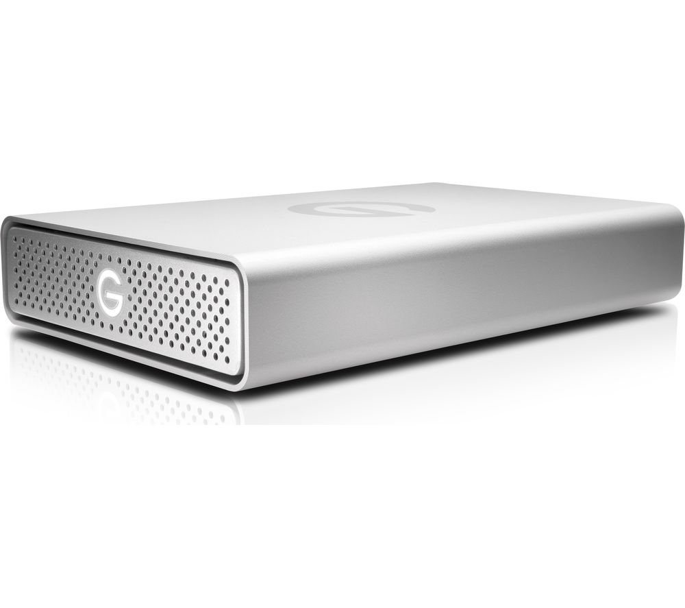 Image of G DRIVE 0G05667 External Hard Drive - 4 TB, Silver, Silver