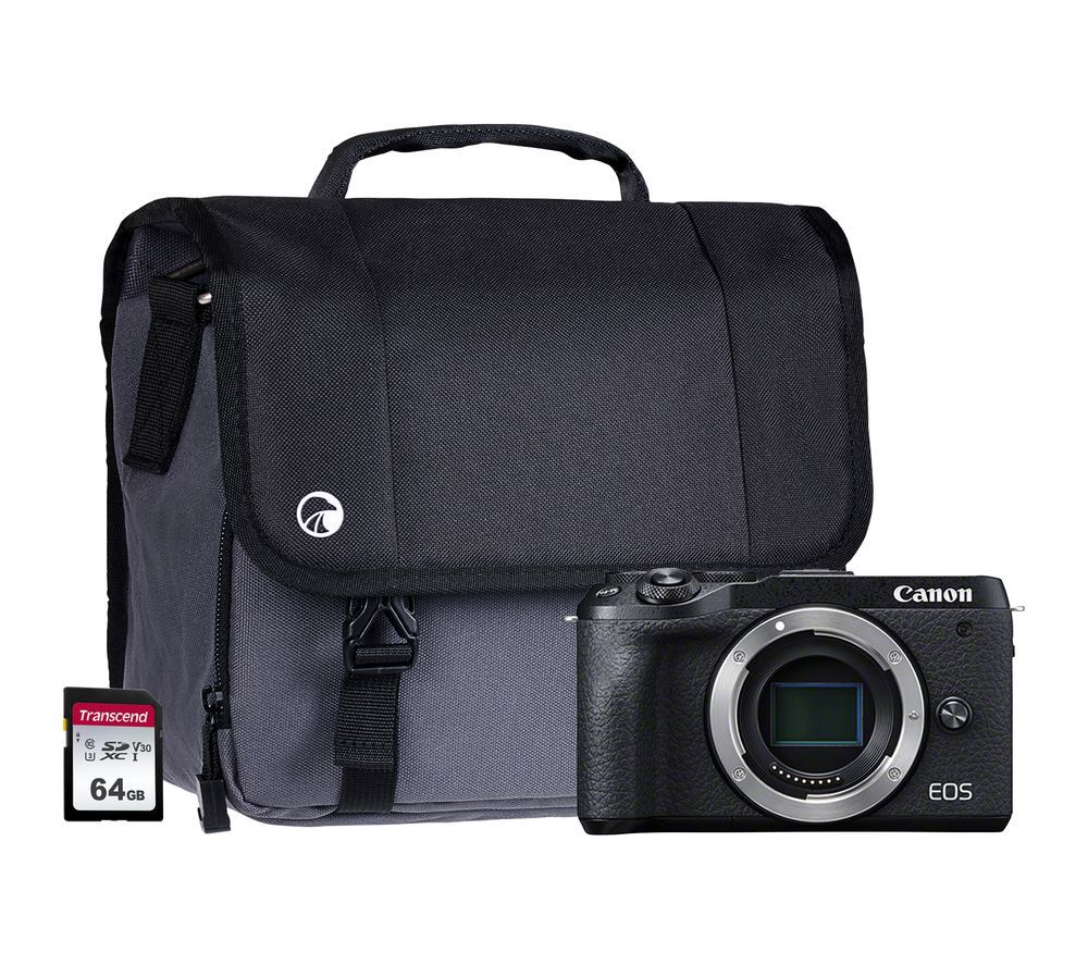 Canon Eos M6 Mark Ii Mirrorless Camera Body Only 64 Gb Sd Card Bag Bundle