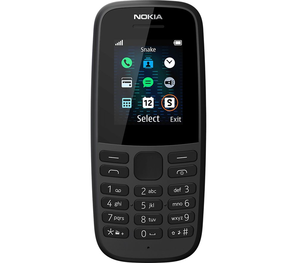 Image of Nokia 105 5th Edition - 4 MB, Black, Black