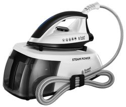 RUSSELL HOBBS Steam Power 24420 Steam Generator Iron - Black & White Best Price, Cheapest Prices