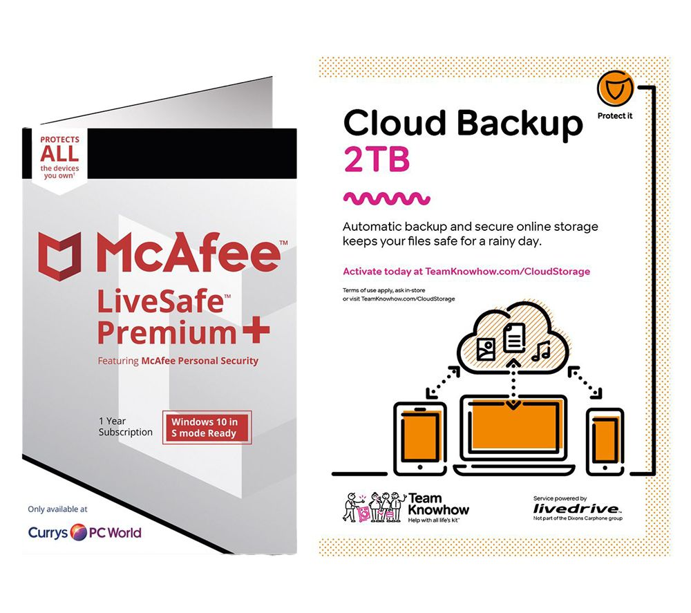 MCAFEE LiveSafe Premium & Knowhow 2 TB Cloud Backup Bundle