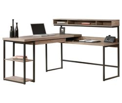 Streamline L-shaped Desk - Salt Oak