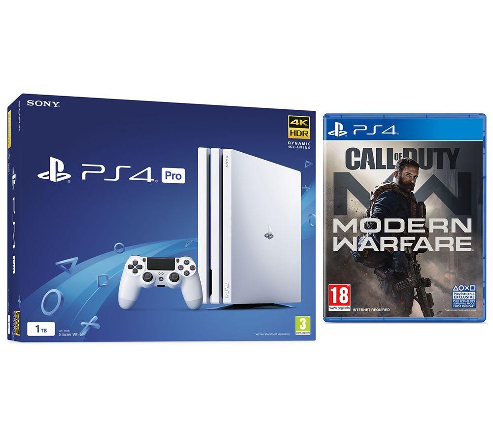 SONY PlayStation 4 Pro & Call of Duty: Modern Warfare (2019) Bundle - White