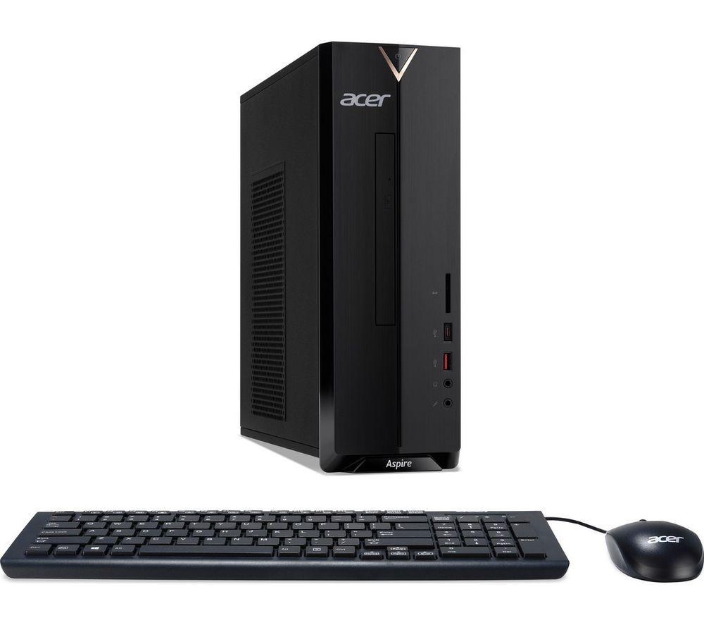 ACER Aspire XC-886 Desktop PC - Intelu0026regPentium Gold, 1 TB HDD, Black, Gold
