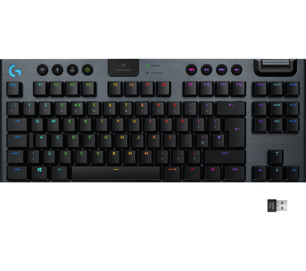 LOGITECH G915 TKL LIGHTSPEED RGB Wireless Mechanical Gaming Keyboard - Tactile