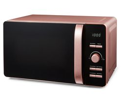 Glitz T24021PS Solo Microwave - Black & Pink