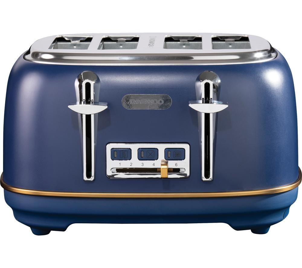 DAEWOO SDA1816 4-Slice Toaster - Blue