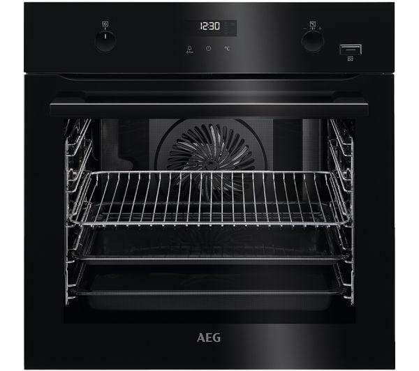 AEG SteamBake BPE556220B Electric Oven - Black