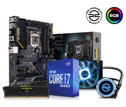 Intel® Core i7 Processor, TUF GAMING Motherboard, 16 GB RAM & FrostFlow Liquid Cooler Components Bundle