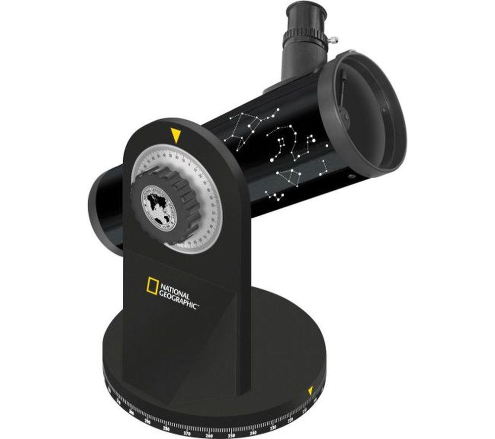NAT. GEOGRAPHIC 76/350 Compact Reflector Telescope - Black, Black
