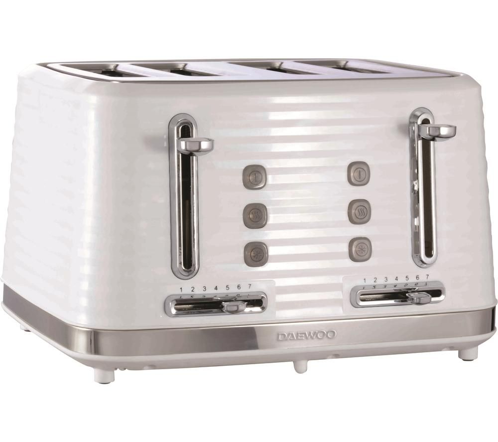 DAEWOO Hive SDA1972 4-Slice Toaster - White