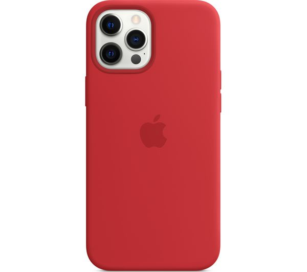 Image of APPLE iPhone 12 Pro Max Silicone Case with MagSafe - (PRODUCT)RED