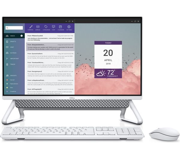 "Image of DELL Inspiron AIO 5400 23.8"" All-in-One PC - Intel® Core™ i3, 256 GB SSD, Silver"