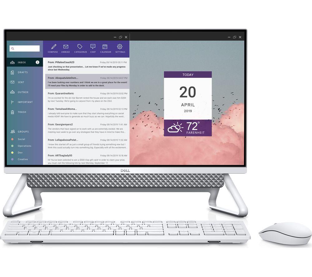 """DELL Inspiron AIO 5400 23.8"""" All-in-One PC - Intel® Core™ i3, 256 GB SSD, Silver"""
