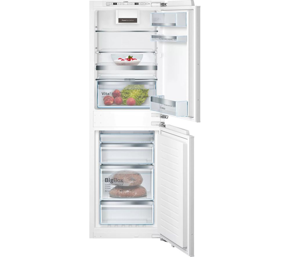 BOSCH Serie 6 KIN85AFE0G Integrated 50/50 Fridge Freezer - Fixed Hinge