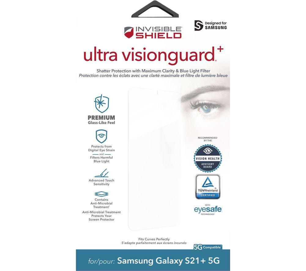 ZAGG InvisibleShield Ultra Visionguard+ Samsung Galaxy S21 Plus Screen Protector