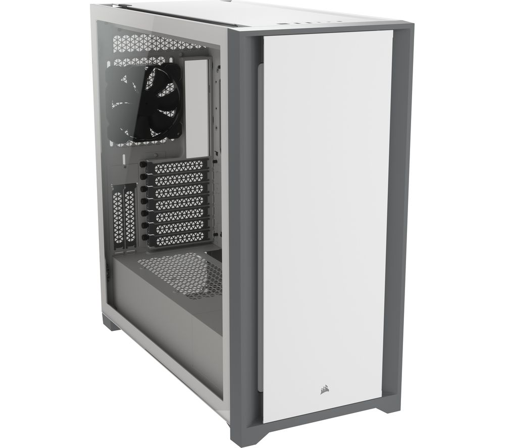 Image of CORSAIR 5000D Tempered Glass ATX Mid-Tower PC Case - White, White