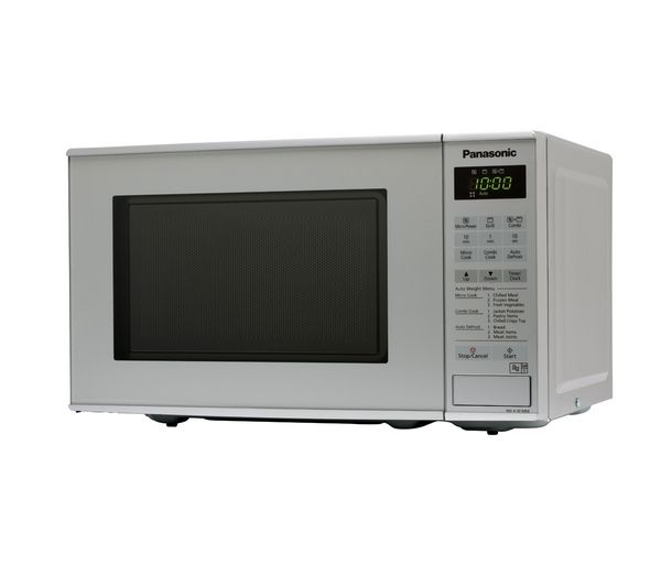 PANASONIC NN-K181MMBPQ Microwave with Grill - Silver + Round 2.6-litre Rice Steamer