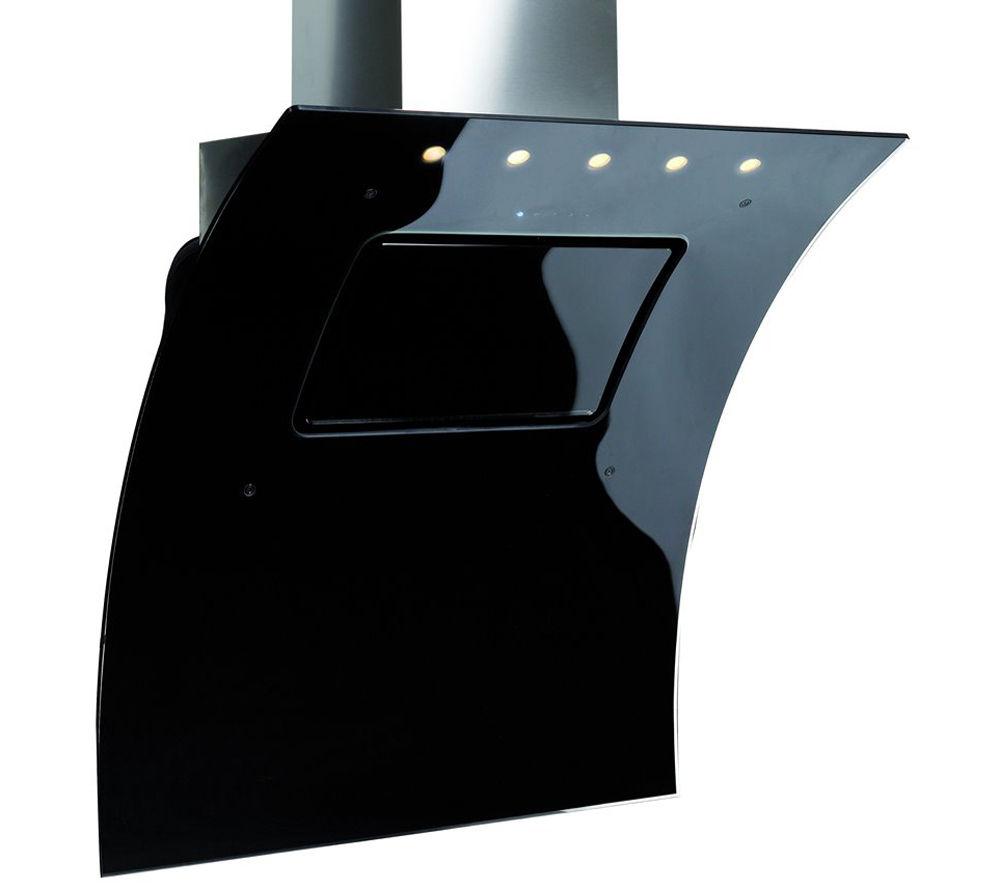 BRITANNIA Omaggio OMA100BL Chimney Cooker Hood - Black Glass