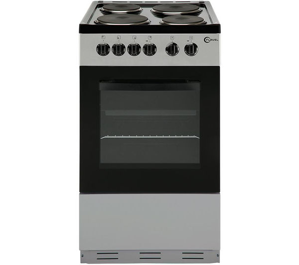 Image of FLAVEL FSBE50S 50 cm Electric Solid Plate Cooker - Silver & Black