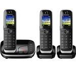 PANASONIC KX-TGJ323EB Cordless Phone with Answering Machine - Triple Handset