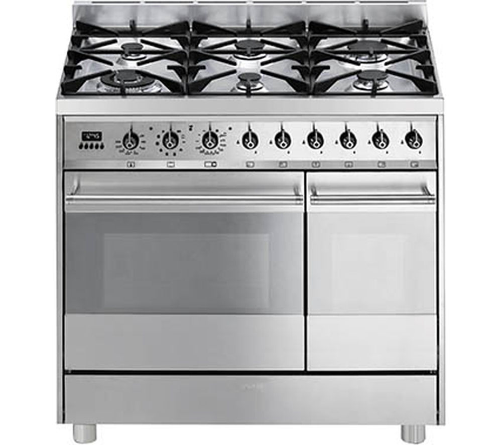 Buy Brand New Smeg C92GPX8 90cm Dual Fuel Range Cooker