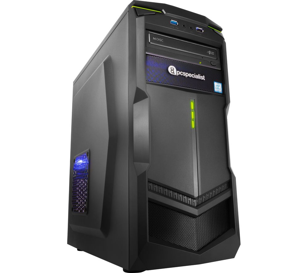 PC SPECIALIST Vortex Core II Gaming PC + LiveSafe Premium - 1 user / unlimited devices for 1 year + Office 365 Personal