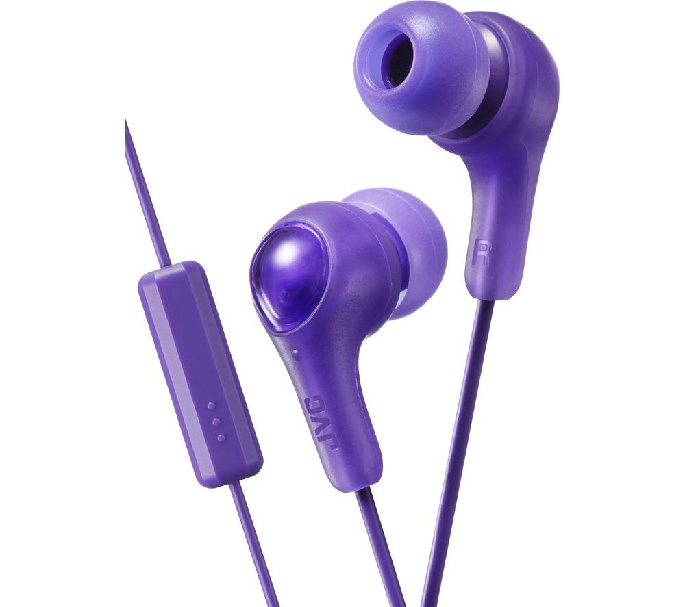 JVC HA-FX7M Gumy Plus Headphones – Violet