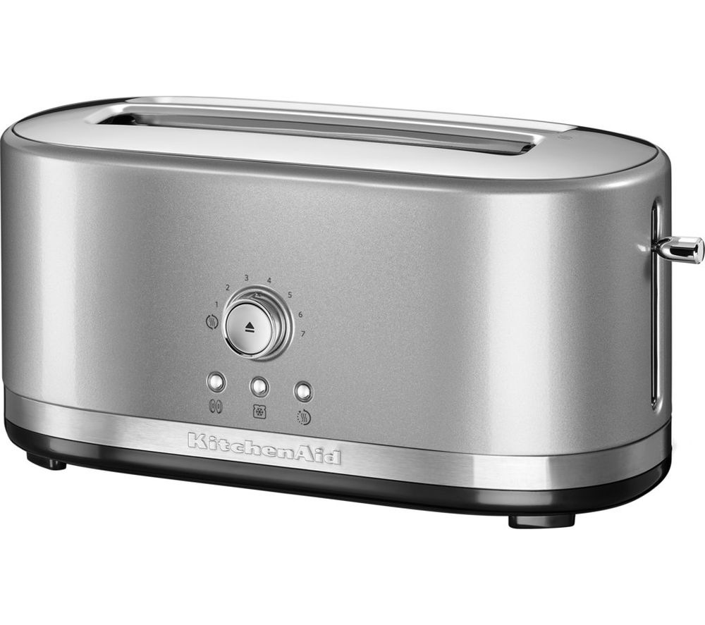 Buy Kitchenaid 5kmt4116bcu 2 Slice Toaster Silver Free