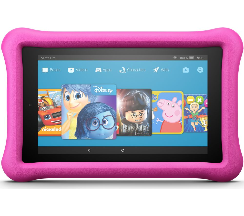 Image of AMAZON Fire 7 Kids Edition Tablet (2017) - 16 GB, Pink, Pink