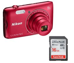 NIKON COOLPIX A300 Compact Camera - Red