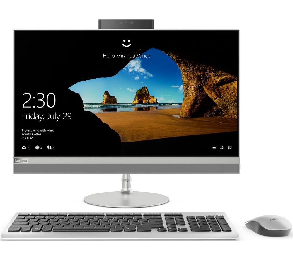 "LENOVO IdeaCentre 520-24AST 23.8"" Touchscreen All-in-One PC - Silver"