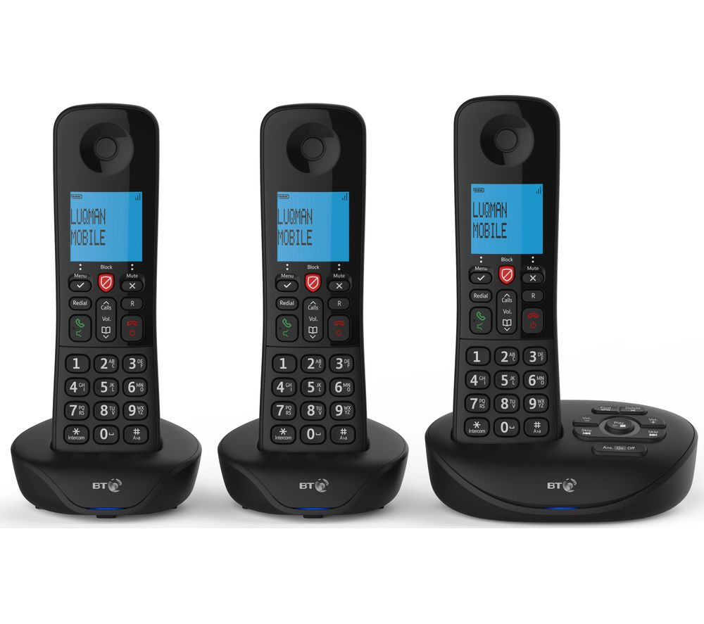 BT Essential Cordless Phone - Triple Handsets