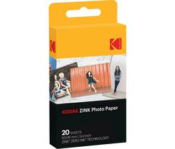 "KODAK Premium Zink 2x3"" Photo Paper - 20 Sheets"
