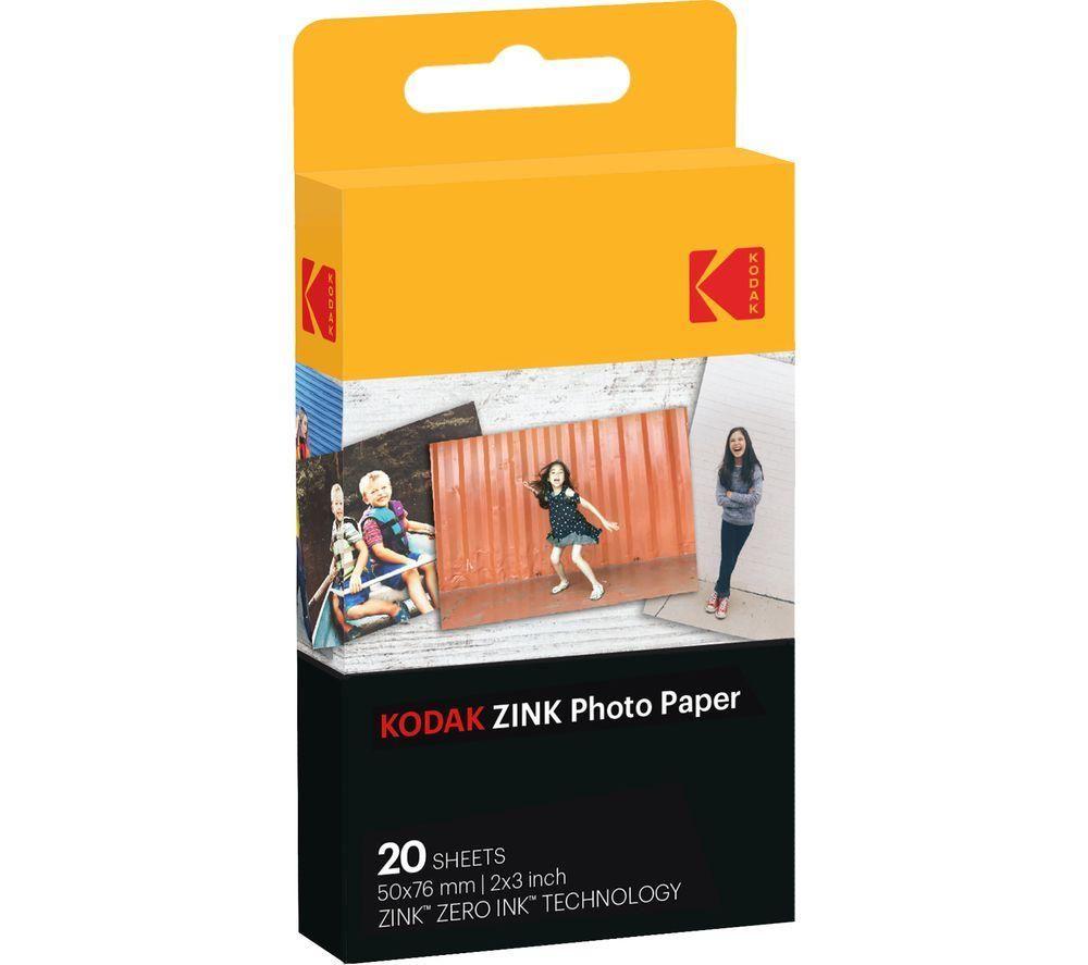 "KODAK ZINK 2x3"" Photo Paper - 20 Sheets"