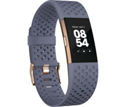 FITBIT Charge 2 - Blue & Gold, Large