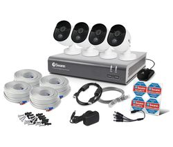 SWANN SWDVK-845804 8-Channel Full HD 1080p Smart Security System - 4 Cameras