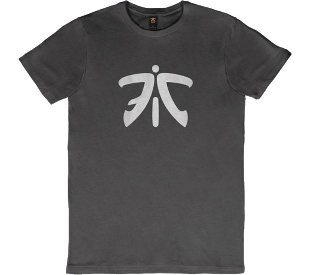 FNATIC Ess Logo T-Shirt - Small, Grey
