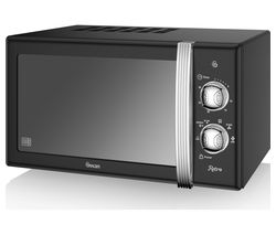 SWAN SM22130BN Solo Microwave - Black