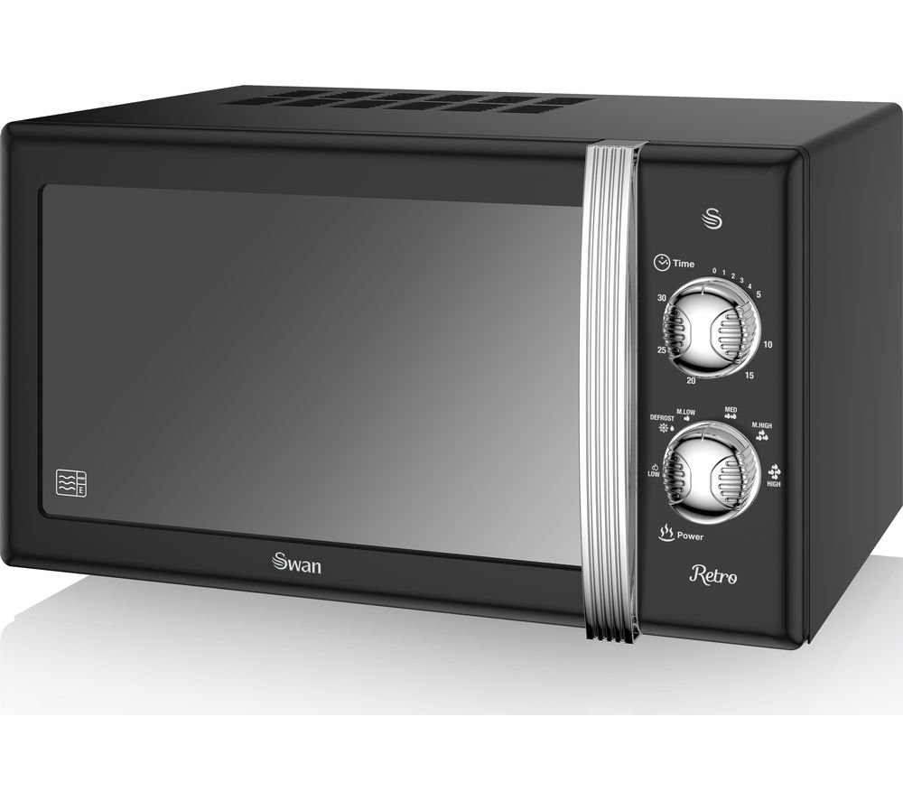 SWAN SM22130BN Solo Microwave - Black, Black