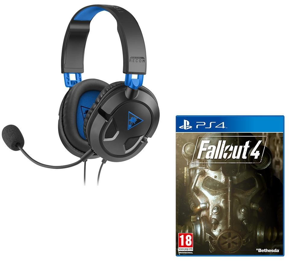 TURTLE BEACH Ear Force Recon 50P Gaming Headset & Fallout 4 Bundle - Black & Blue