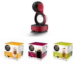 DOLCE GUSTO by Krups Lumio KP130540 Coffee Machine & Pod Bundle - Macchiato, Americano & Cappuccino