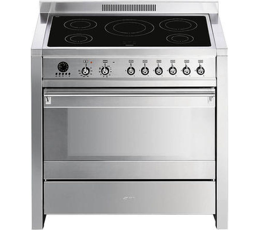 SMEG Opera A1PYID-7 90 cm Electric Induction Range Cooker - Stainless Steel