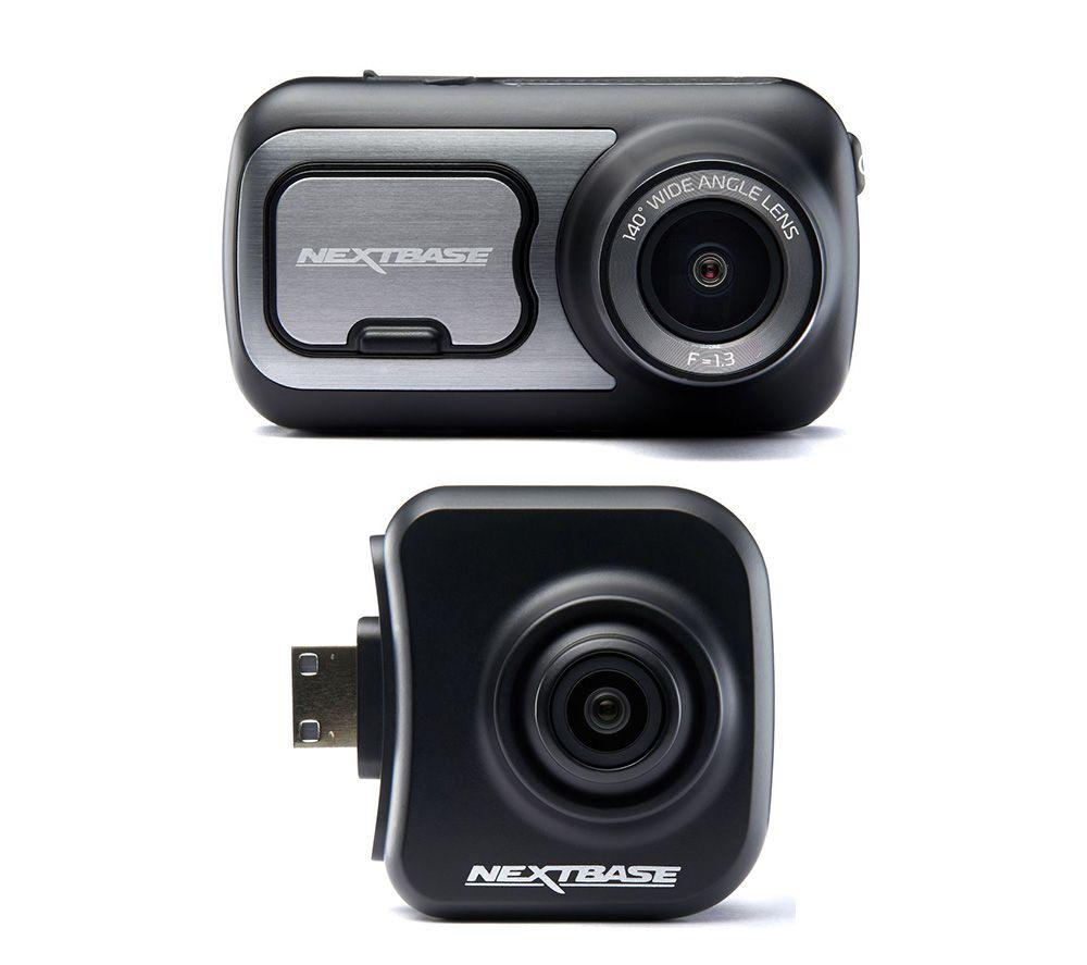NEXTBASE 422GW Quad HD Dash Cam with Amazon Alexa & NBDVRS2RFCZ Full HD Rear View Dash Cam Bundle