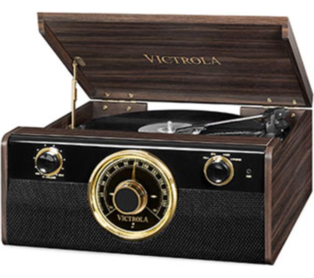 VICTORIA Empire Junior VTA-240-MAHEU 4-in-1 Belt Drive Bluetooth Music Centre - Mahogany