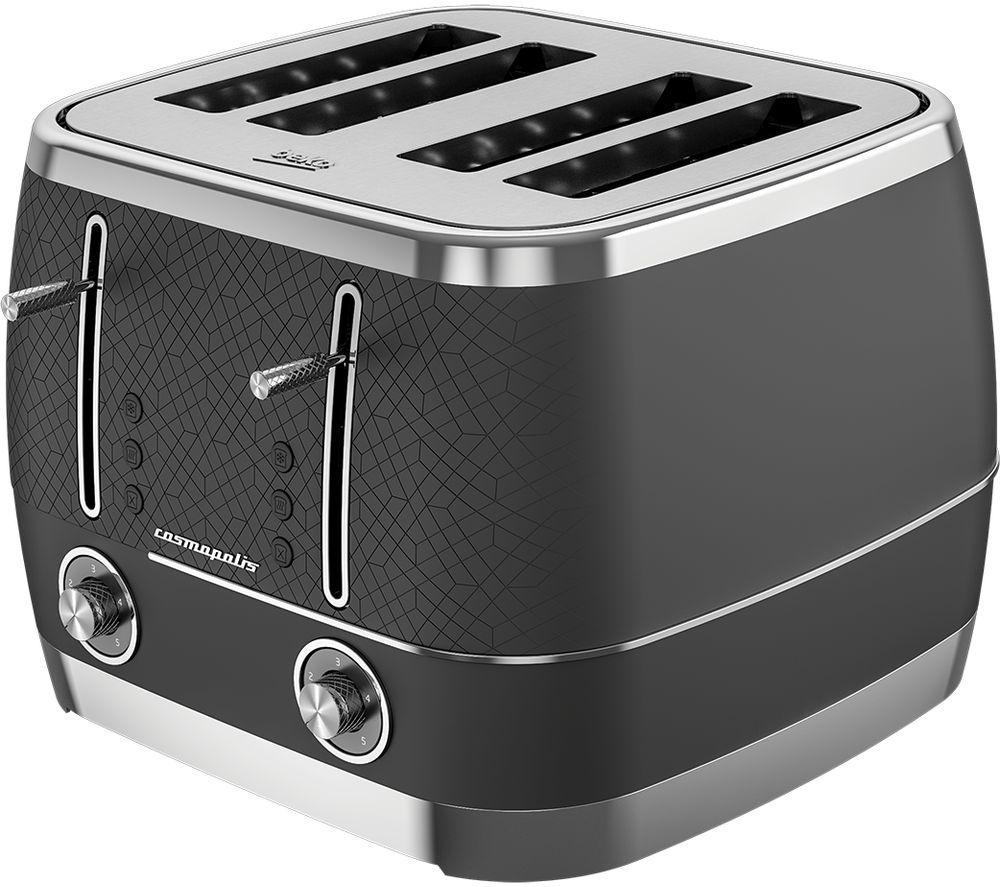 BEKO Cosmopolis TAM8402B 4-Slice Toaster - Black, Black